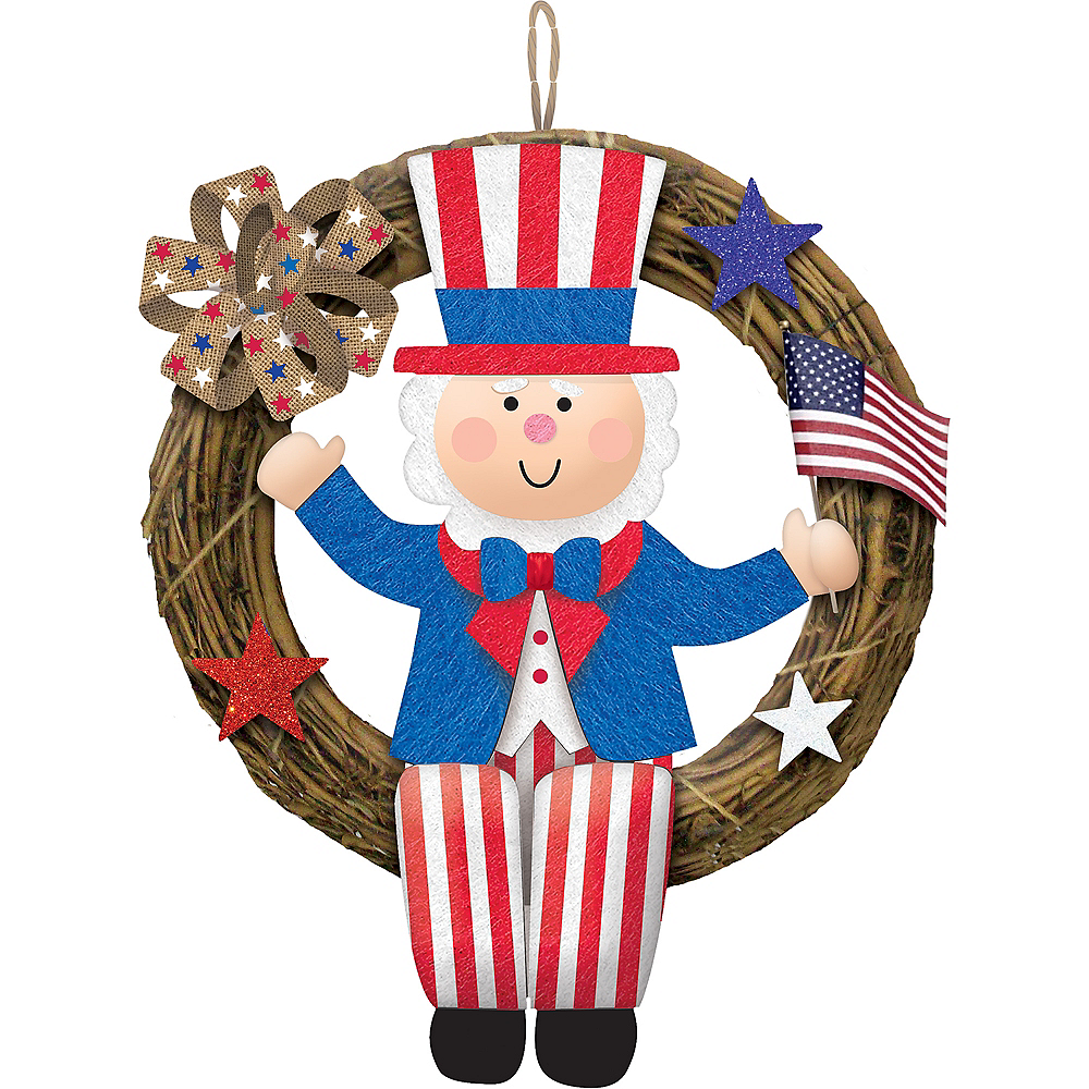 Uncle Sam Wreath Image #1
