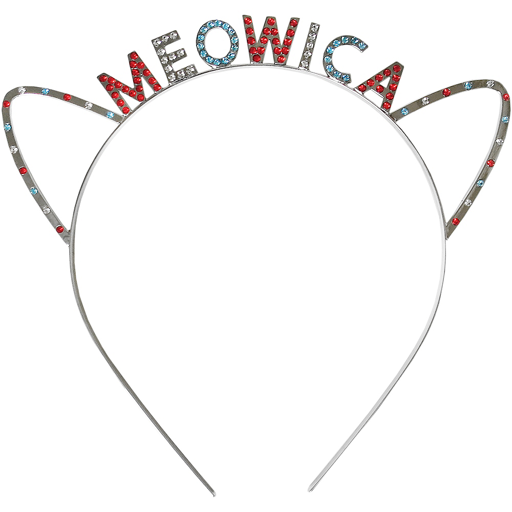 Rhinestone Patriotic Red, White & Blue Meowica Headband Image #1