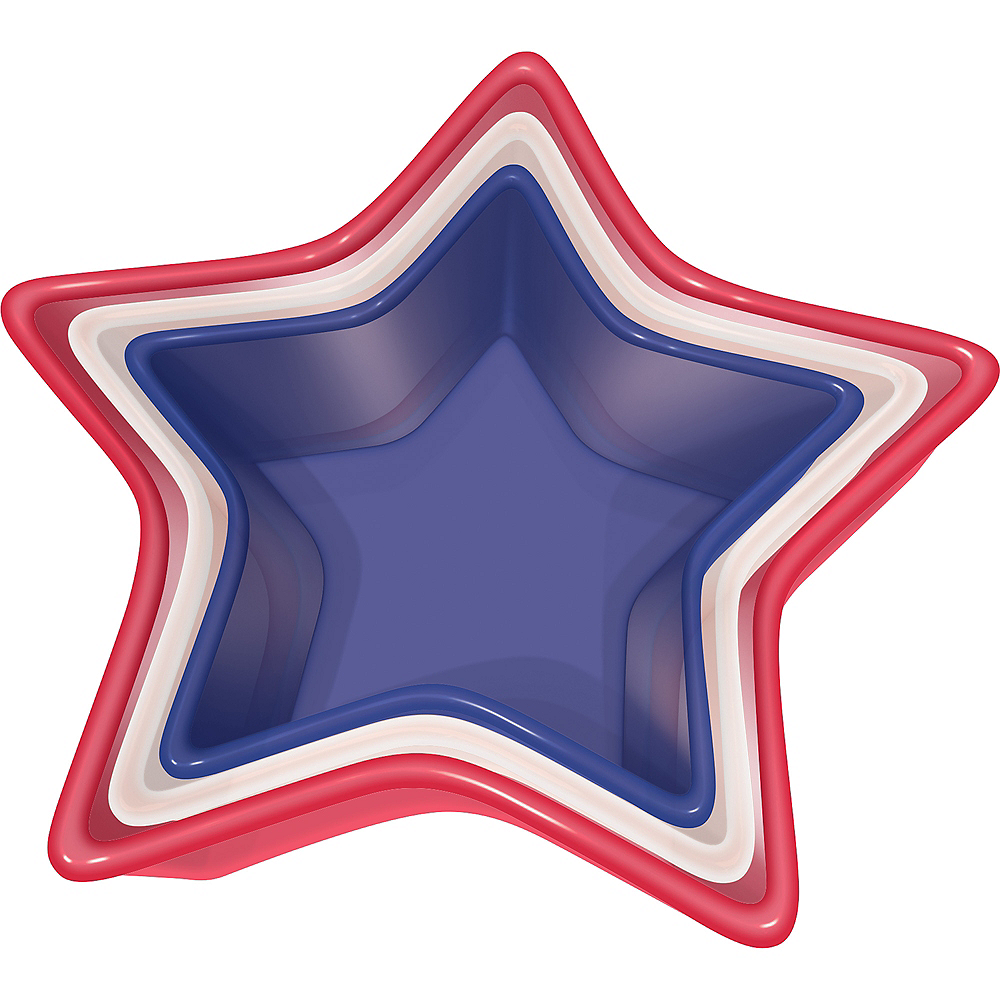 Nested Red, White & Blue Star Bowls 3ct Image #1