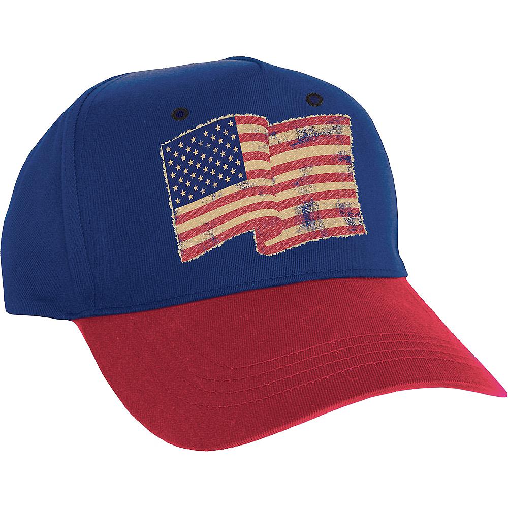 Vintage American Flag Baseball Hat Image #1
