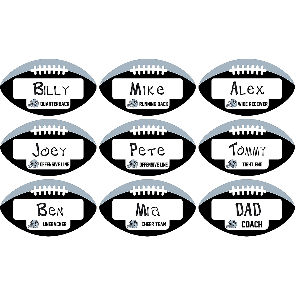 Oakland Raiders Place Cards 9ct Image #1