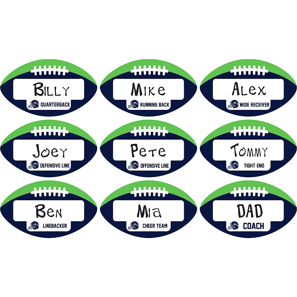 Seattle Seahawks Place Cards 9ct Image #1