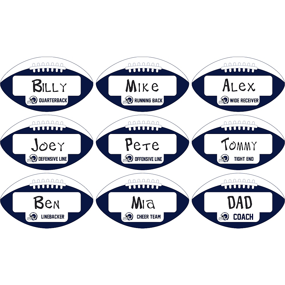 Los Angeles Rams Place Cards 9ct Image #1