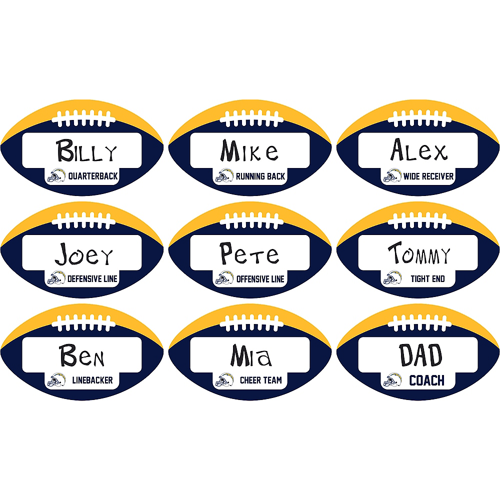 Los Angeles Chargers Place Cards 9ct Image #1