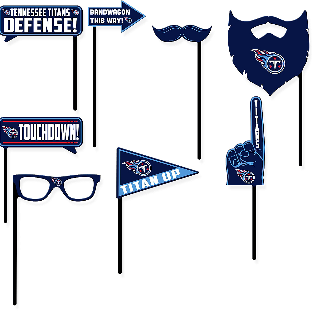 Tennessee Titans Photo Booth Props 9ct Image #1