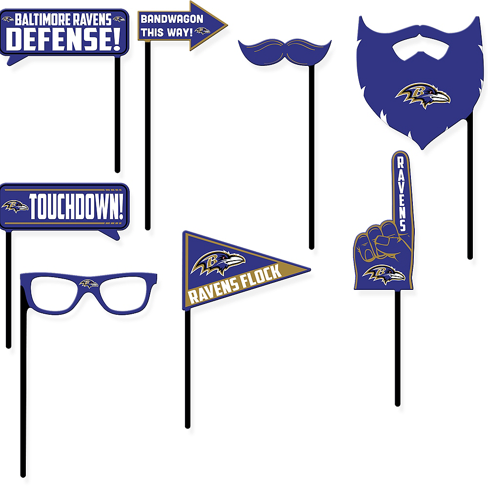 Baltimore Ravens Photo Booth Props 9ct Image #1