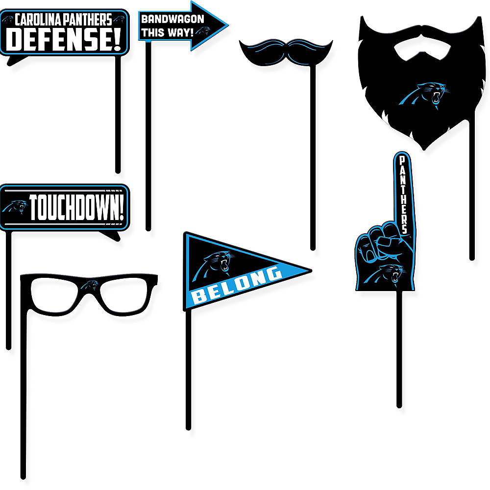 Carolina Panthers Photo Booth Props 9ct Image #1