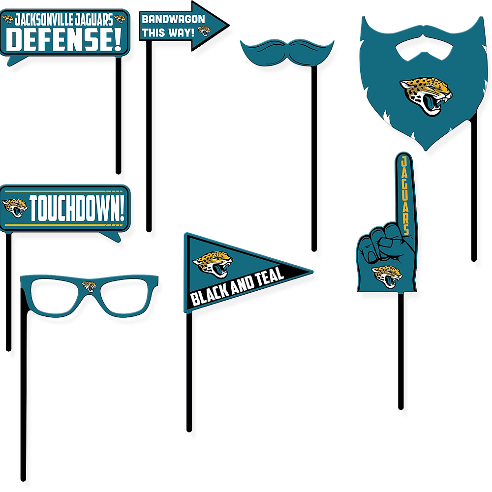 Jacksonville Jaguars Photo Booth Props 9ct Image #1