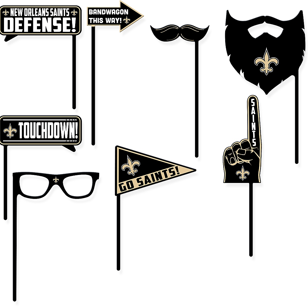 New Orleans Saints Photo Booth Props 9ct Image #1