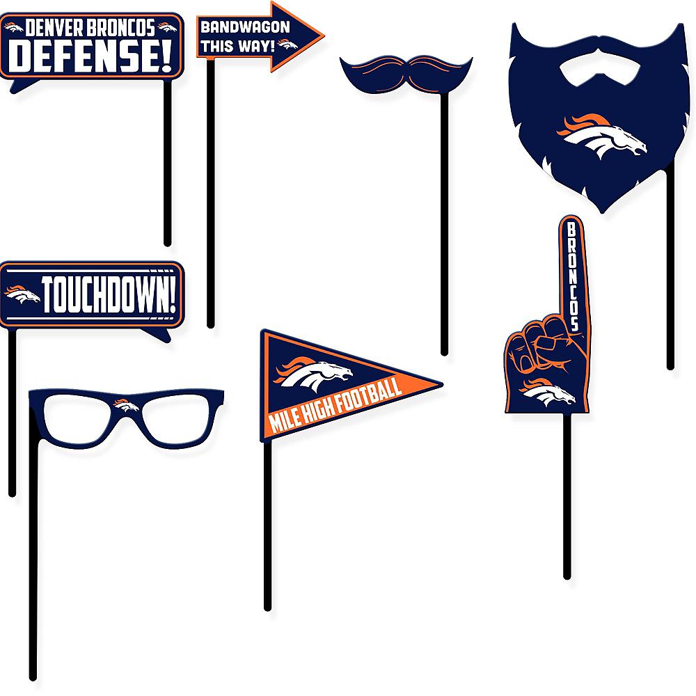 Denver Broncos Photo Booth Props 9ct Image #1