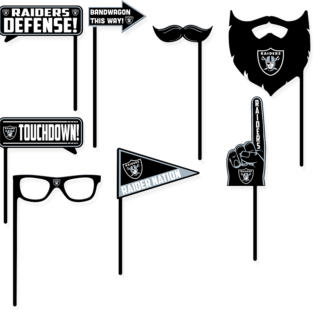 Oakland Raiders Photo Booth Props 9ct Image #1