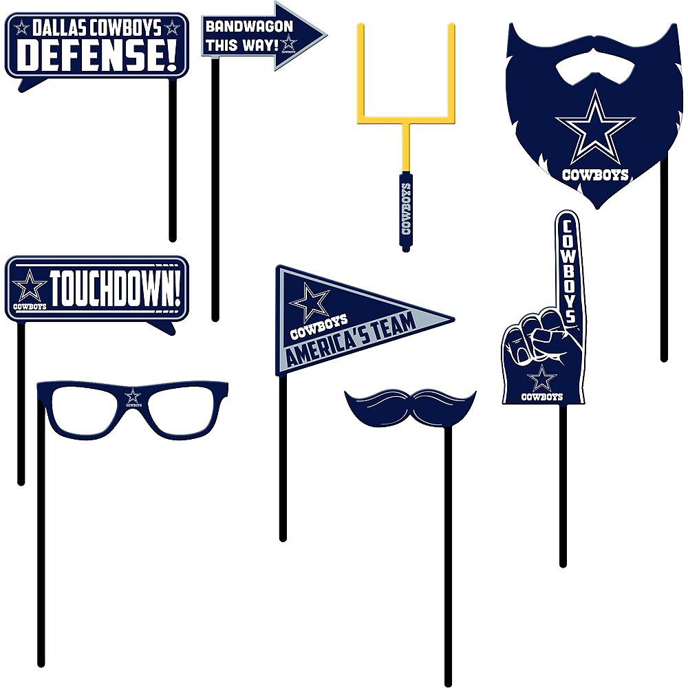 Dallas Cowboys Photo Booth Props 9ct Image #1