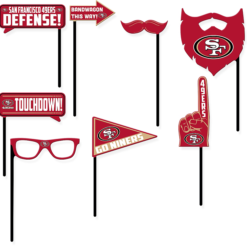 San Francisco 49ers Photo Booth Props 9ct Image #1