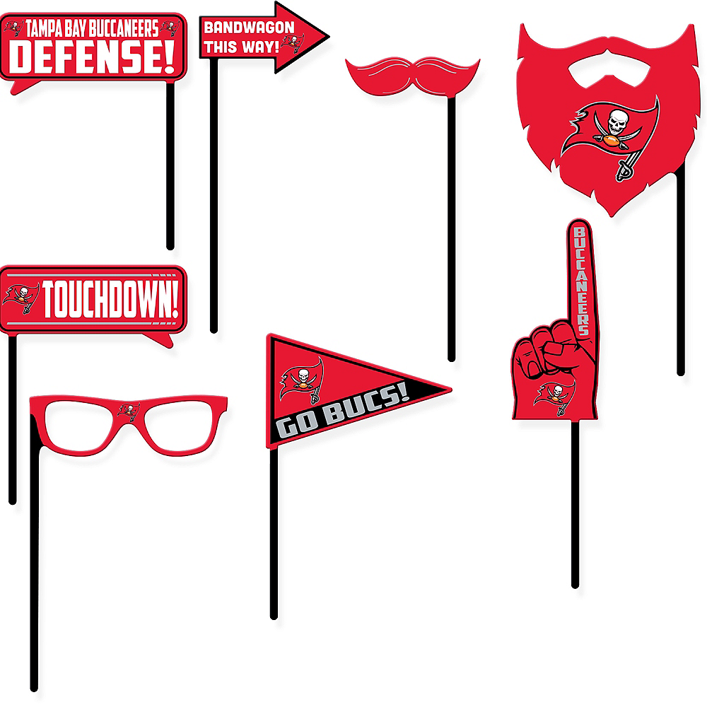 Tampa Bay Buccaneers Photo Booth Props 9ct Image #1