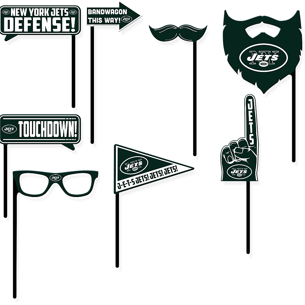 New York Jets Photo Booth Props 9ct Image #1