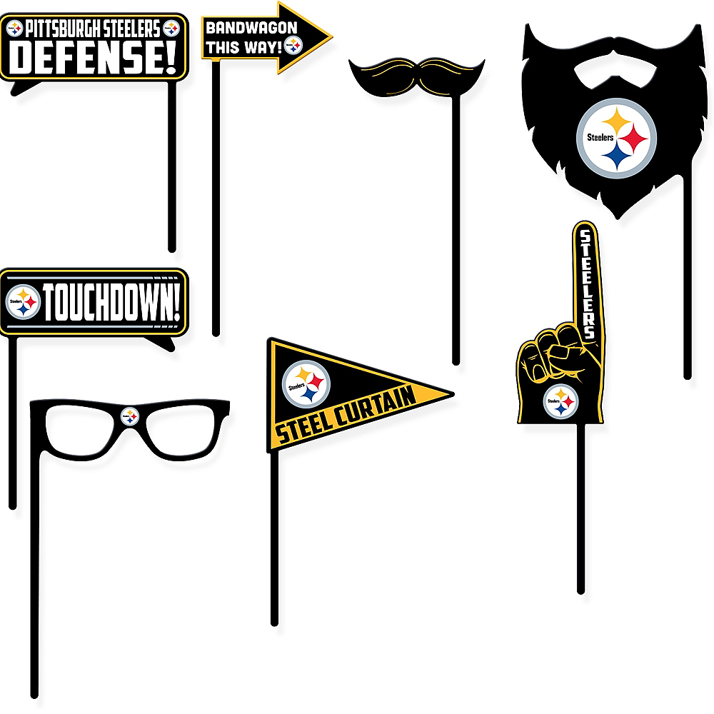 Pittsburgh Steelers Photo Booth Props 9ct Image #1