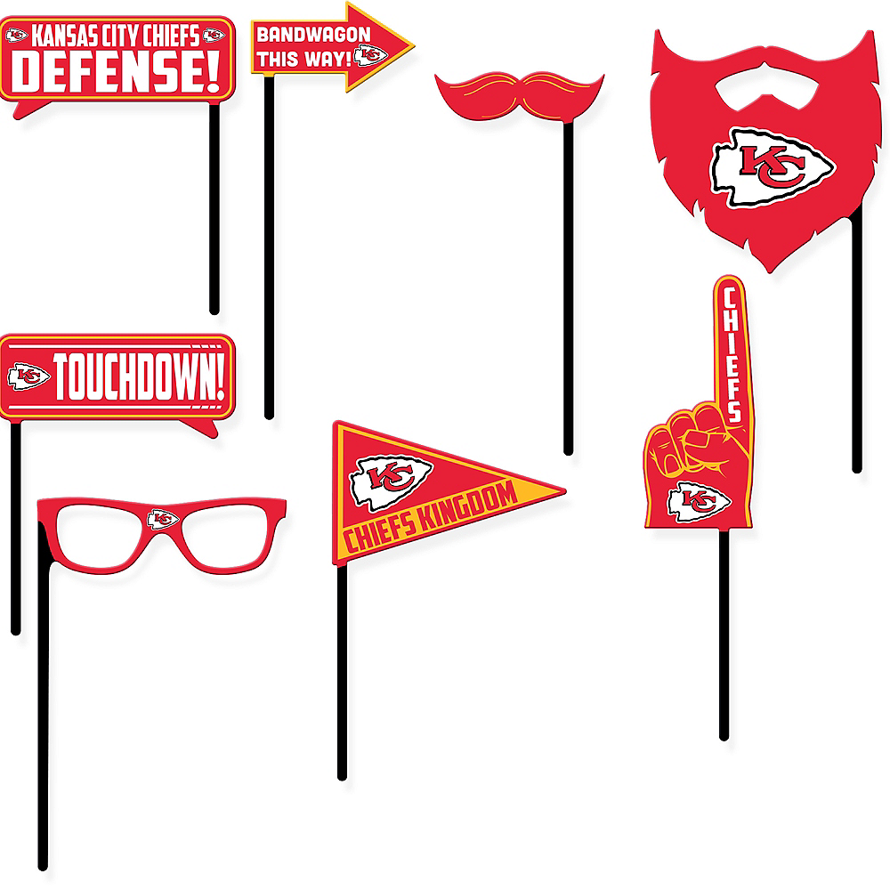 Kansas City Chiefs Photo Booth Props 9ct Image #1