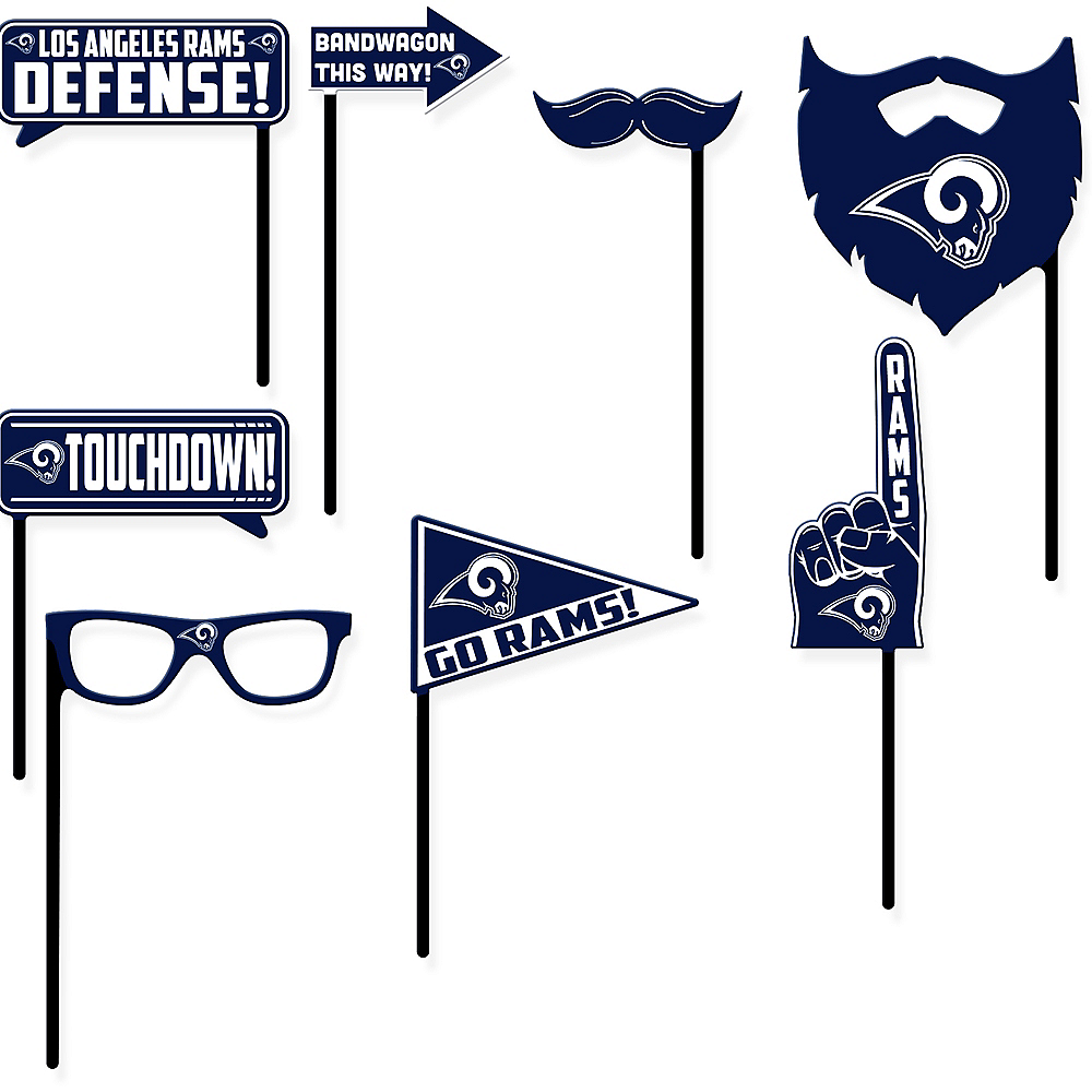 Los Angeles Rams Photo Booth Props 9ct Image #1