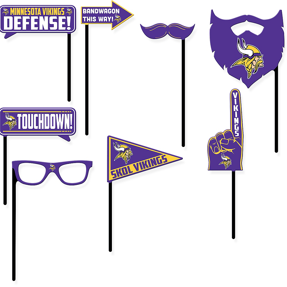 Minnesota Vikings Photo Booth Props 9ct Image #1