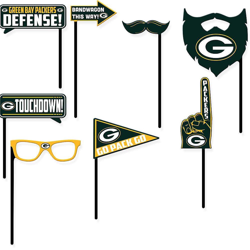 Green Bay Packers Photo Booth Props 9ct Image #1