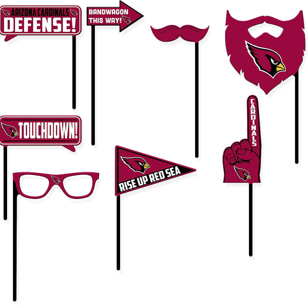 Arizona Cardinals Photo Booth Props 9ct Image #1