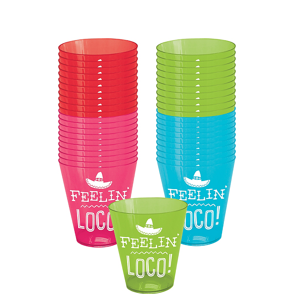 Feelin' Loco Shot Glasses 40ct Image #1