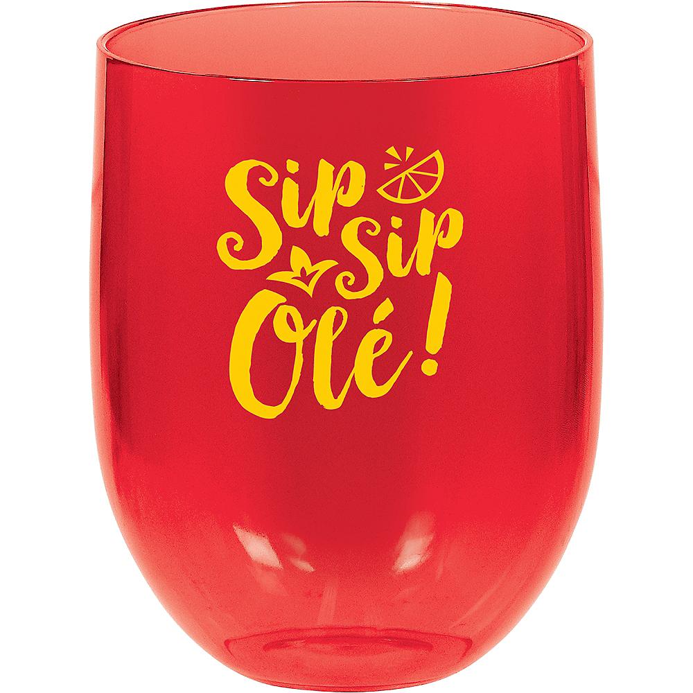 Fiesta Plastic Stemless Wine Glass Image #1