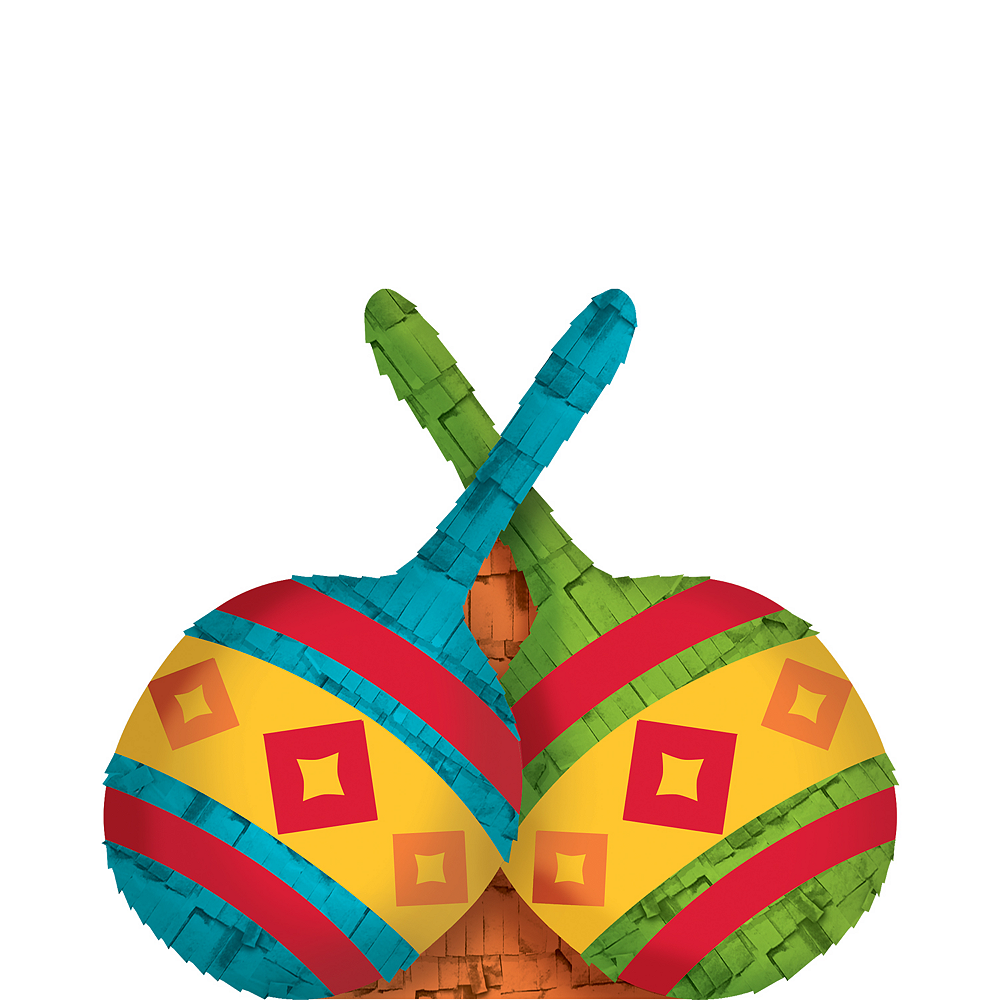 Mini Maracas Pinata Decorations Image #1