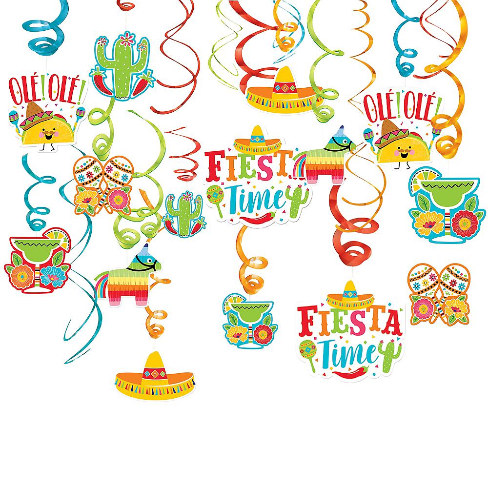 Fiesta Time Swirl Decorations 30ct Image #1