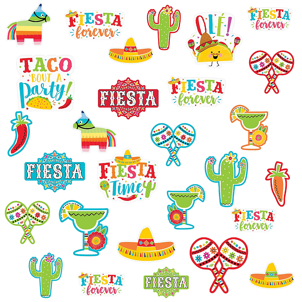 Fiesta Time Cutouts 30ct Image #1