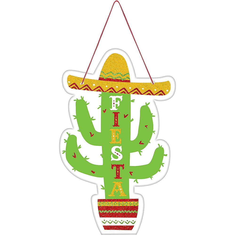 Glitter Fiesta Cactus Sign Image #1