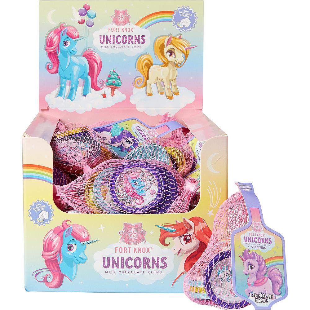 Rainbow Unicorn Chocolate Coins 36ct Image #1