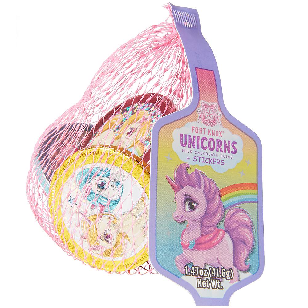 Rainbow Unicorn Chocolate Coins 36ct Image #2