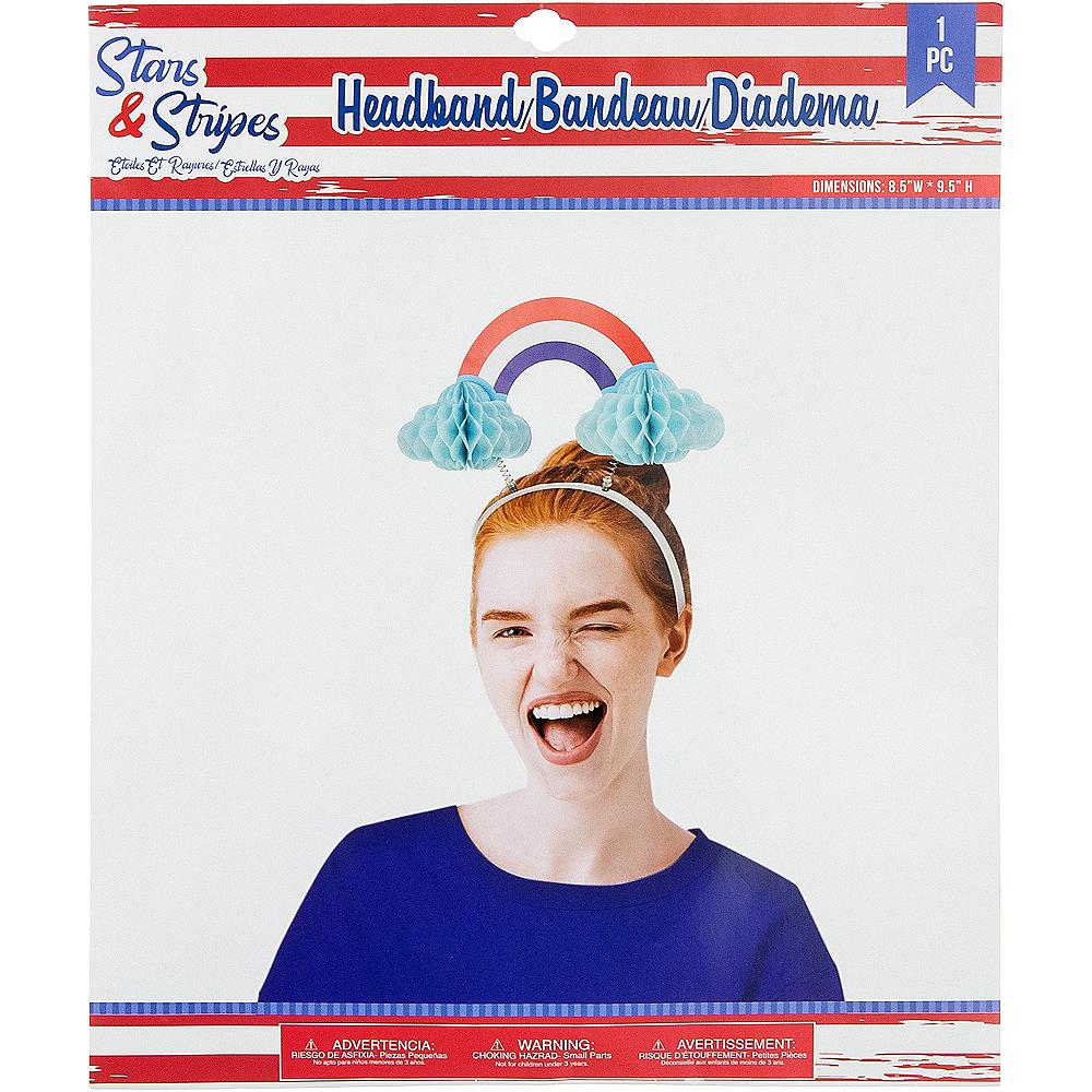 Red, White & Blue Rainbow Head Bopper Image #2