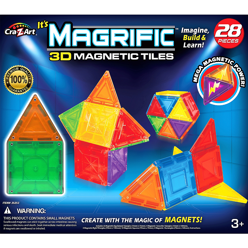 Cra Z Art Magrific Magnetic Tile Building Set 28pc Image 1