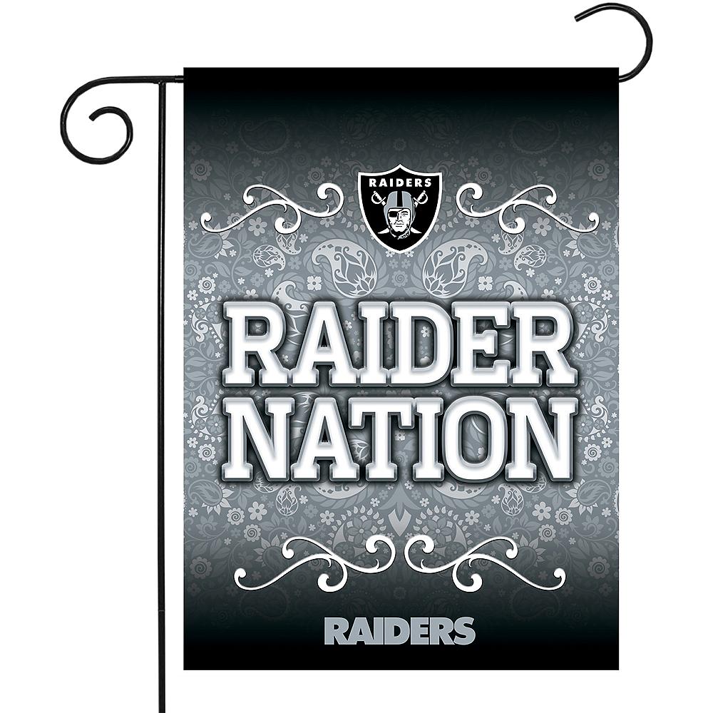 Oakland Raiders Garden Flag Image #1