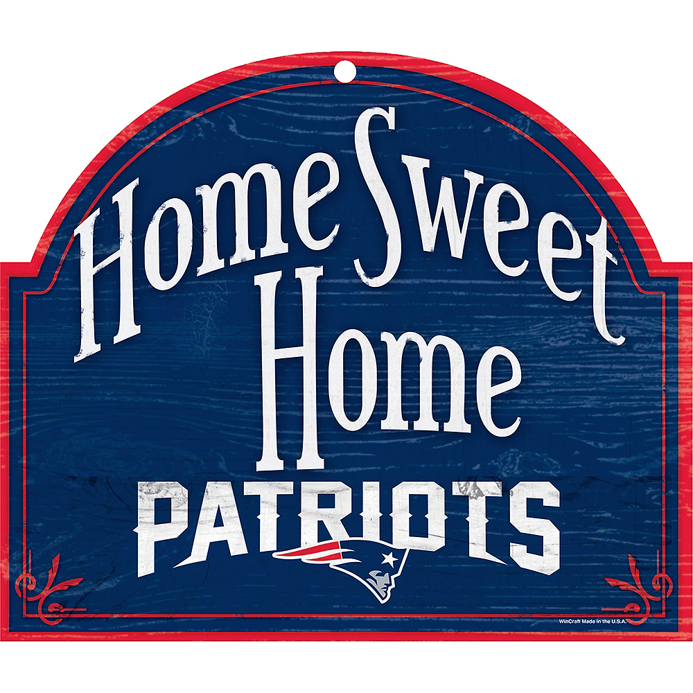 New England Patriots Wooden Sign Image #1
