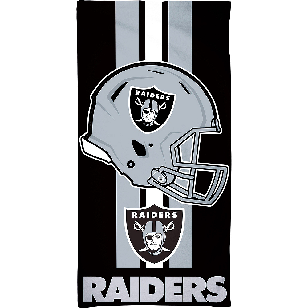 Las Vegas Raiders Beach Towel 30in X 60in Party City