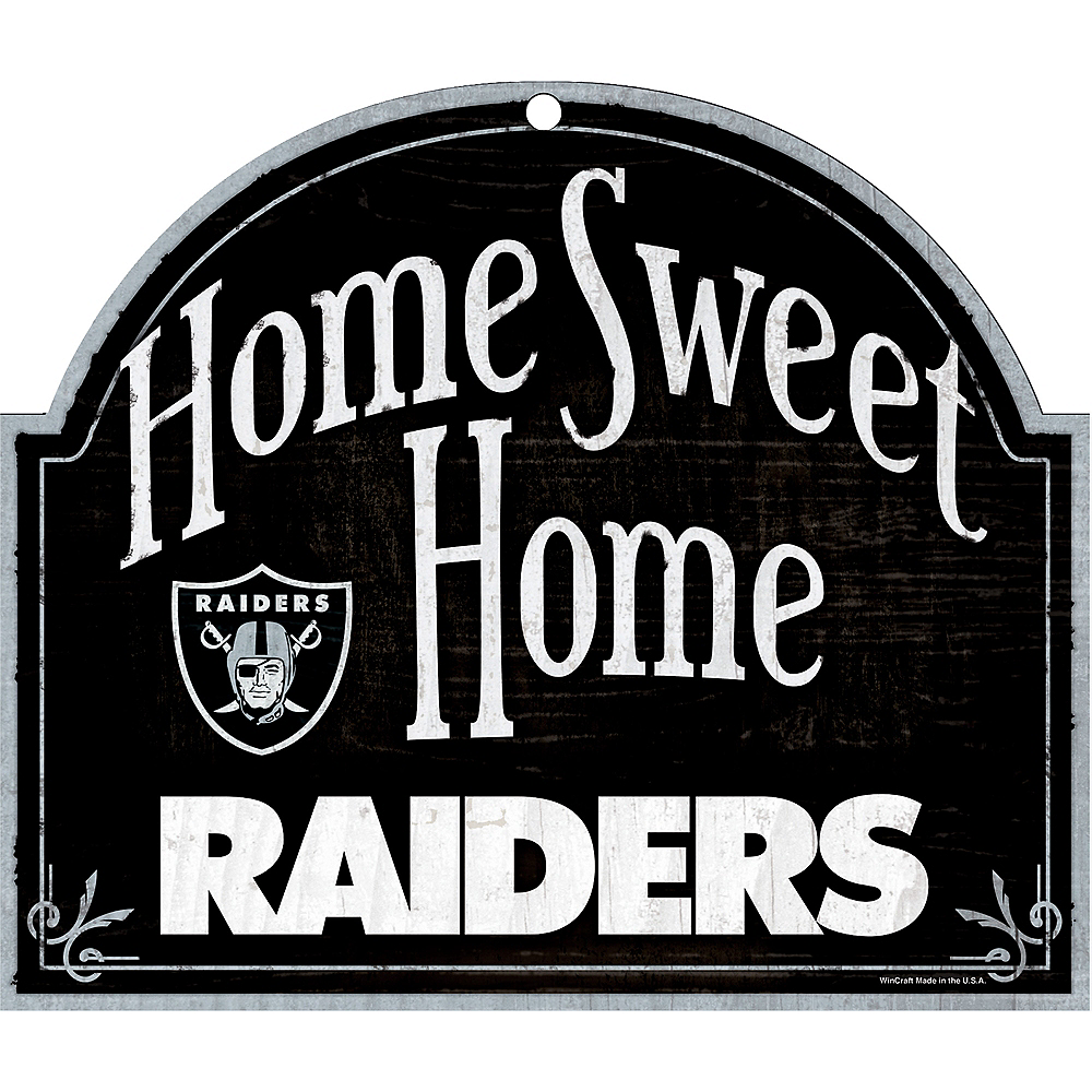 Oakland Raiders Wooden Sign Image #1