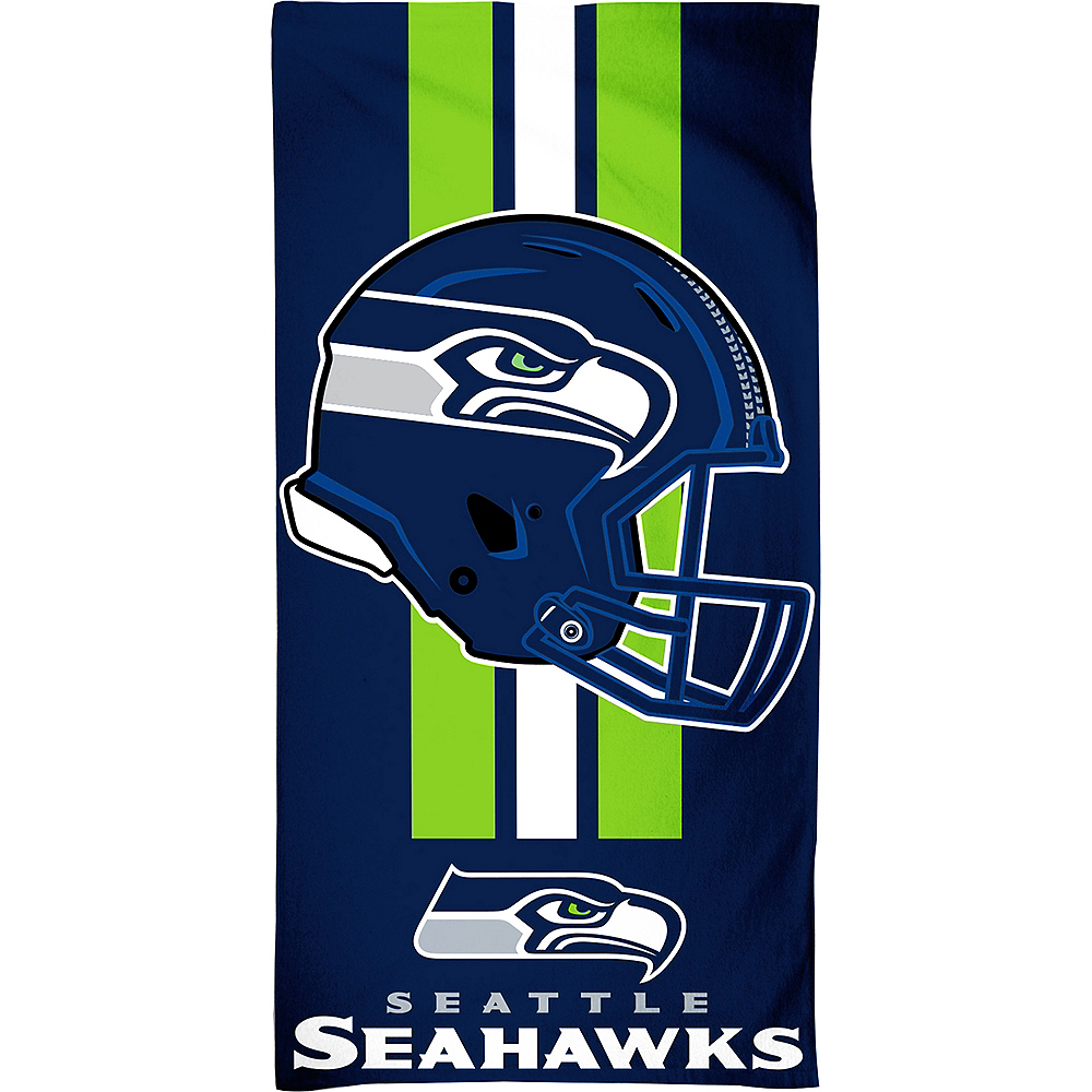 Seattle Seahawks Beach Towel 30in X 60in Party City