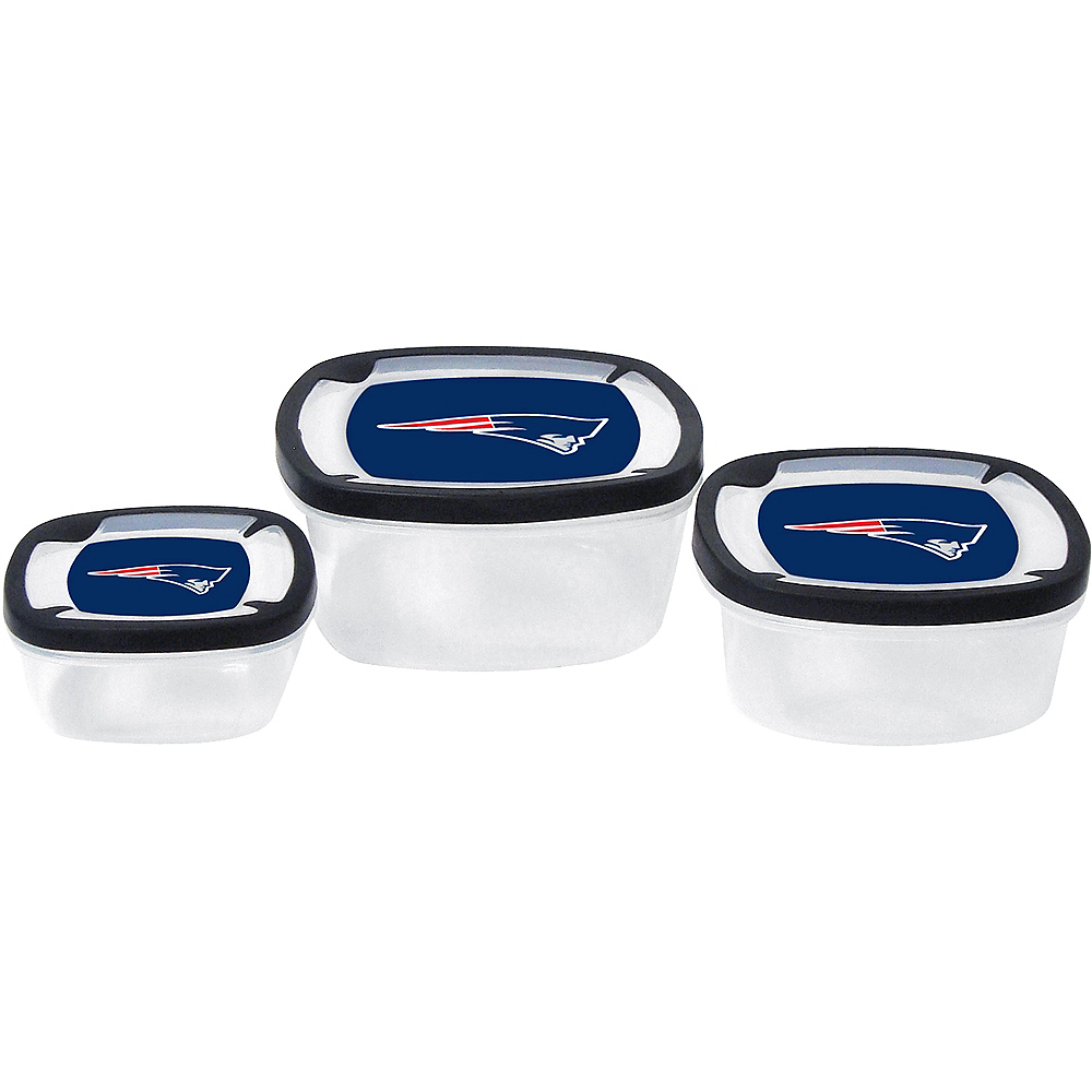 New England Patriots Food Containers 3ct Image #1