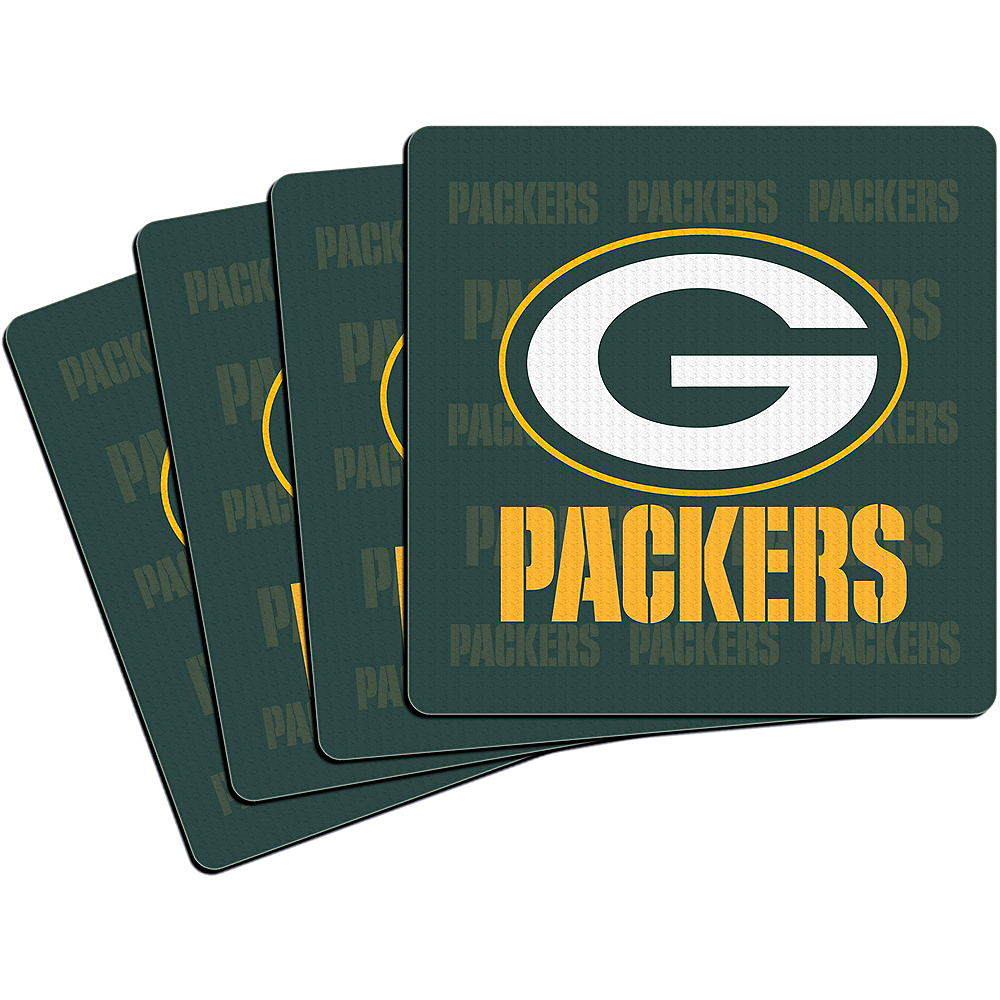 Nav Item for Green Bay Packers Coasters 4ct Image #1