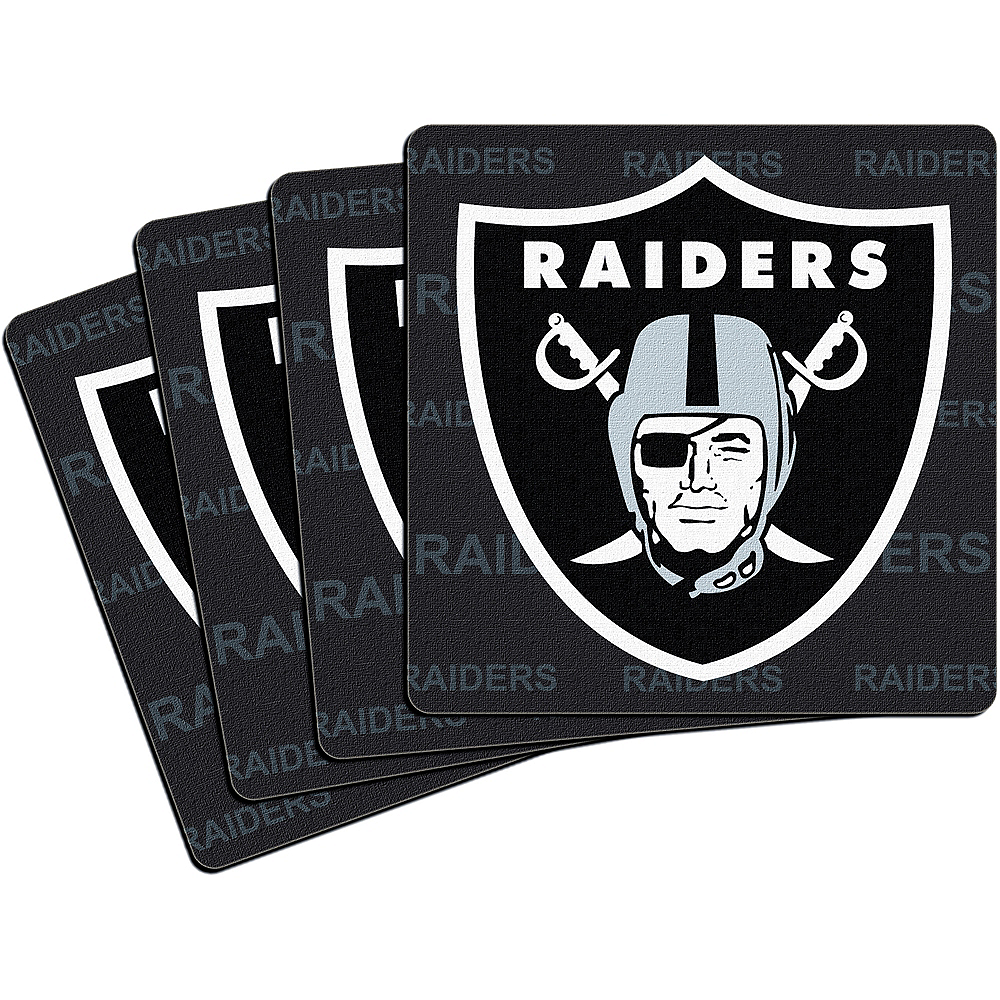 Nav Item for Oakland Raiders Coasters 4ct Image #1