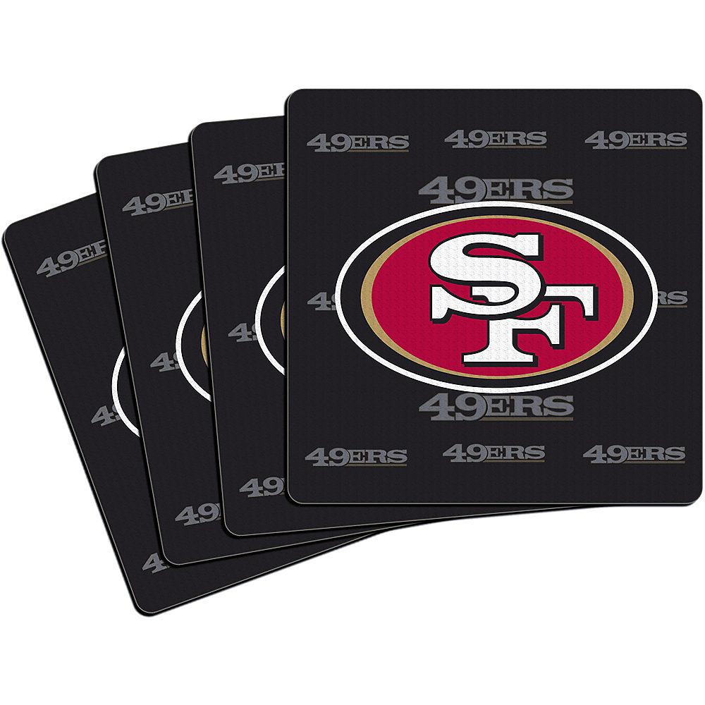 San Francisco 49ers Coasters 4ct Image #1
