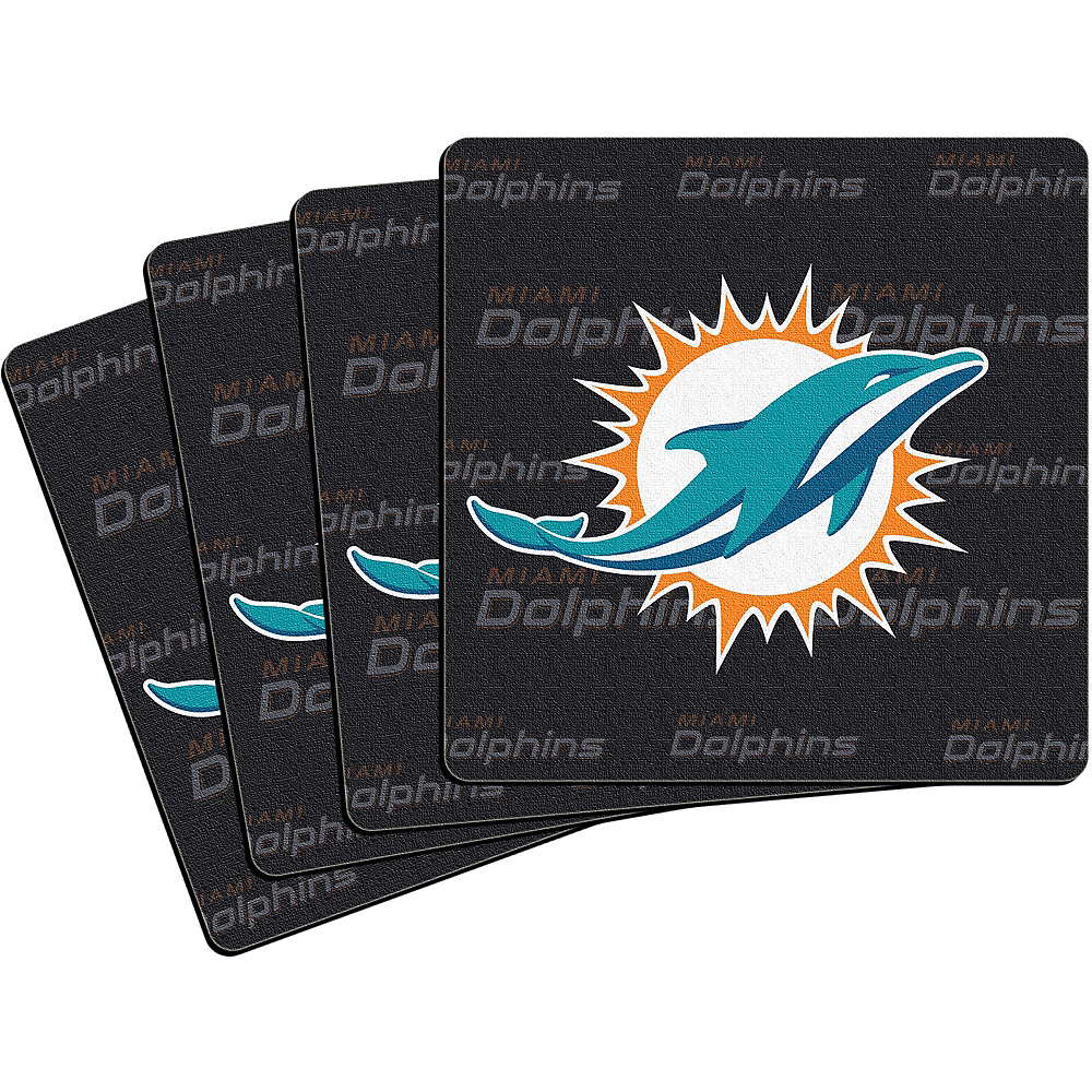 Miami Dolphins Coasters 4ct Image #1