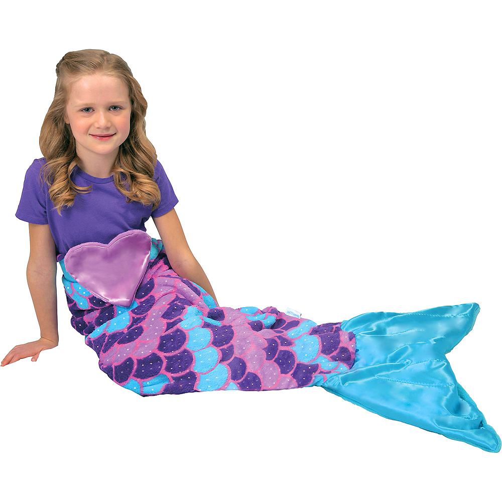 Snuggie Tails Mermaid Blanket 4 1/4in x 11in | Party City