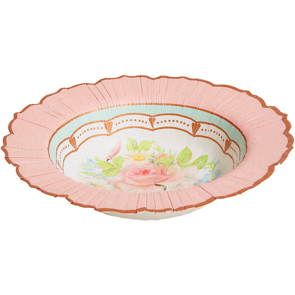 Nav Item for Floral Tea Party Bowls 8ct Image #1