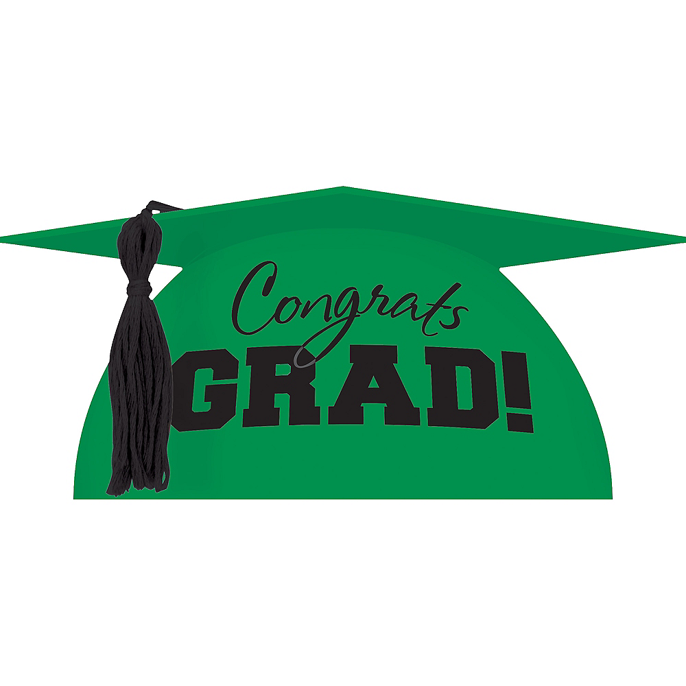 Green Graduation Cap Cake Topper 5in x 3in | Party City