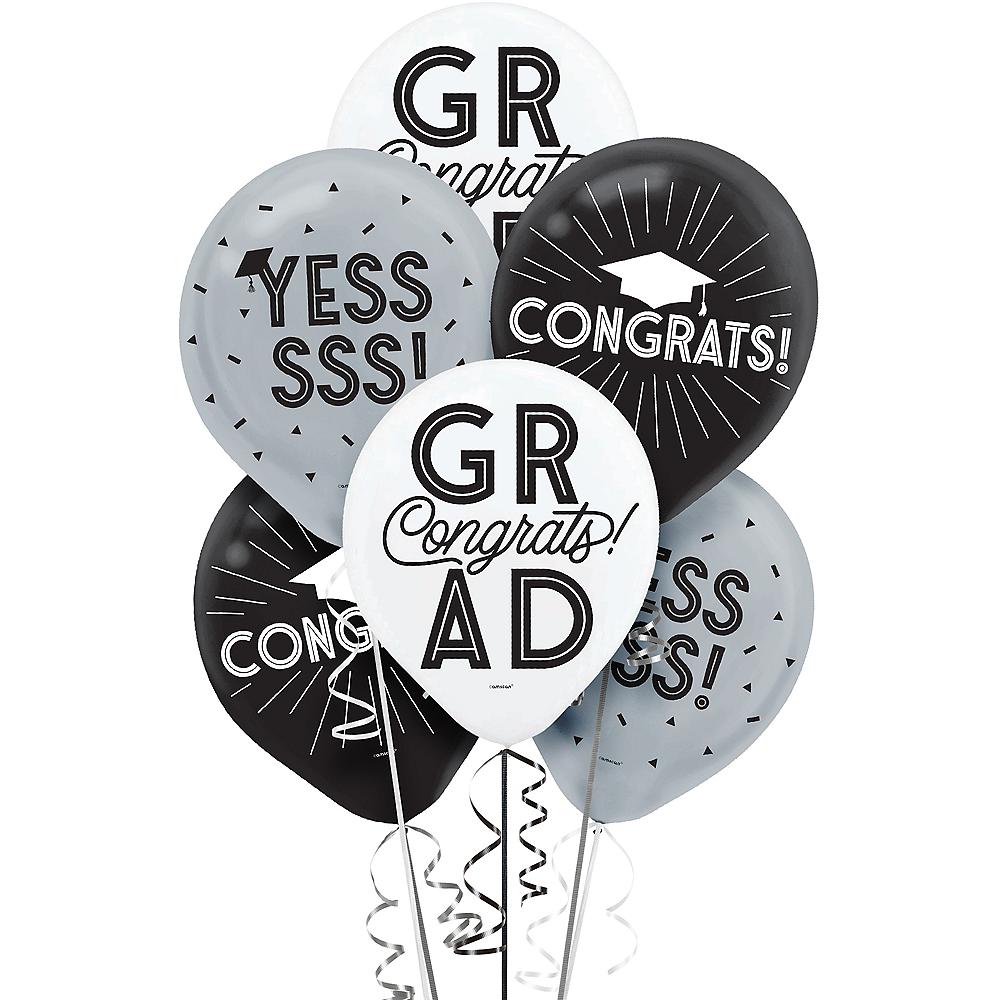 Grid Graduation Balloons 15ct Image #1