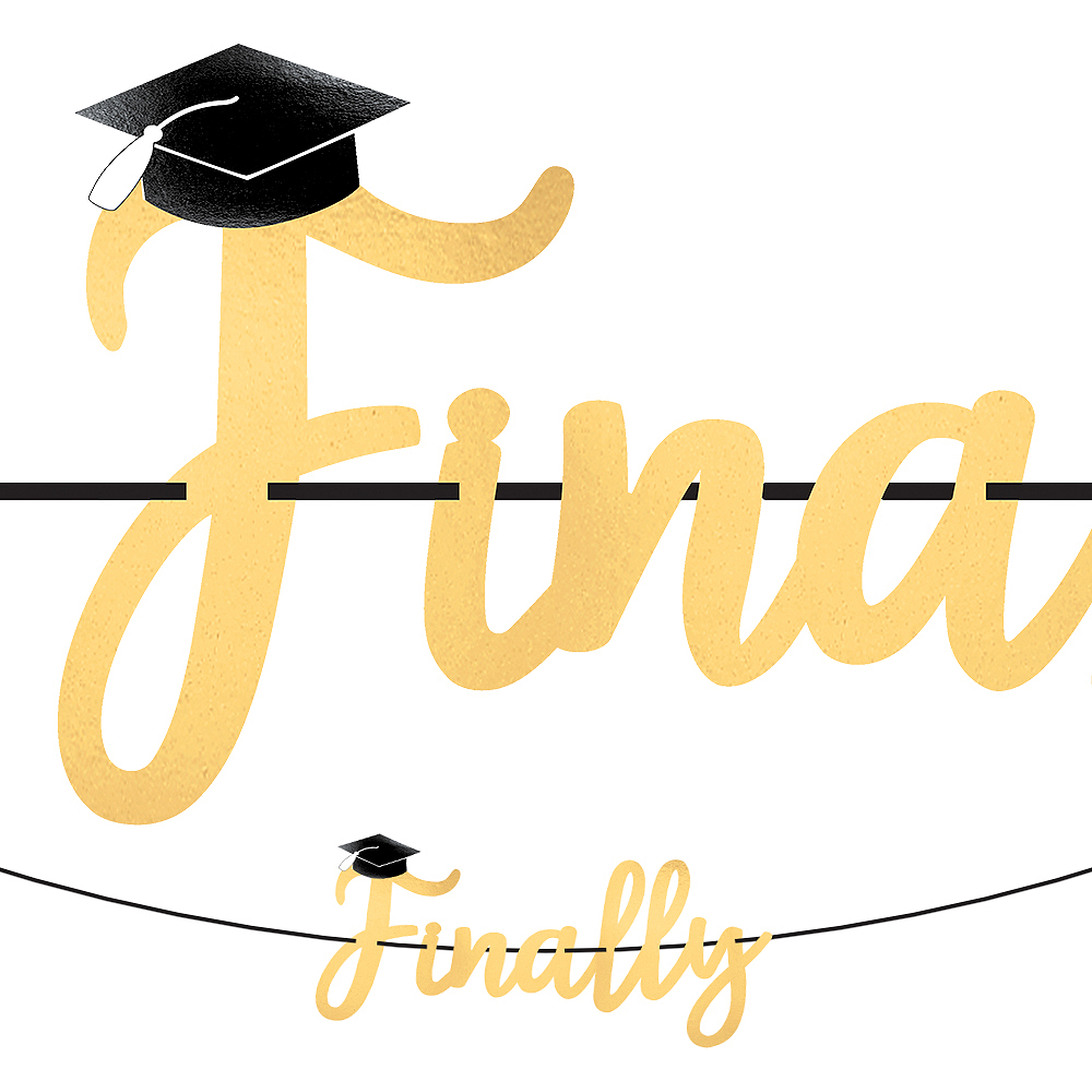 Finally Graduation Letter Banner with Mini Banner Image #1